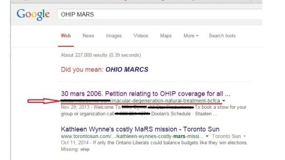Updated OHIP MARS poison search