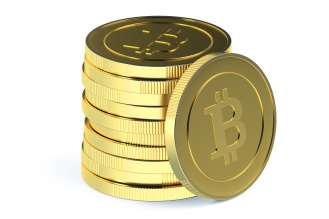 Stack of Golden Bitcoins